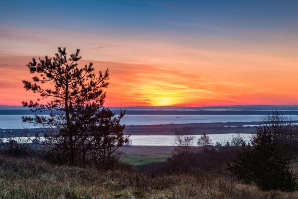 Sonnenuntergang auf Hiddensee in der Ostsee