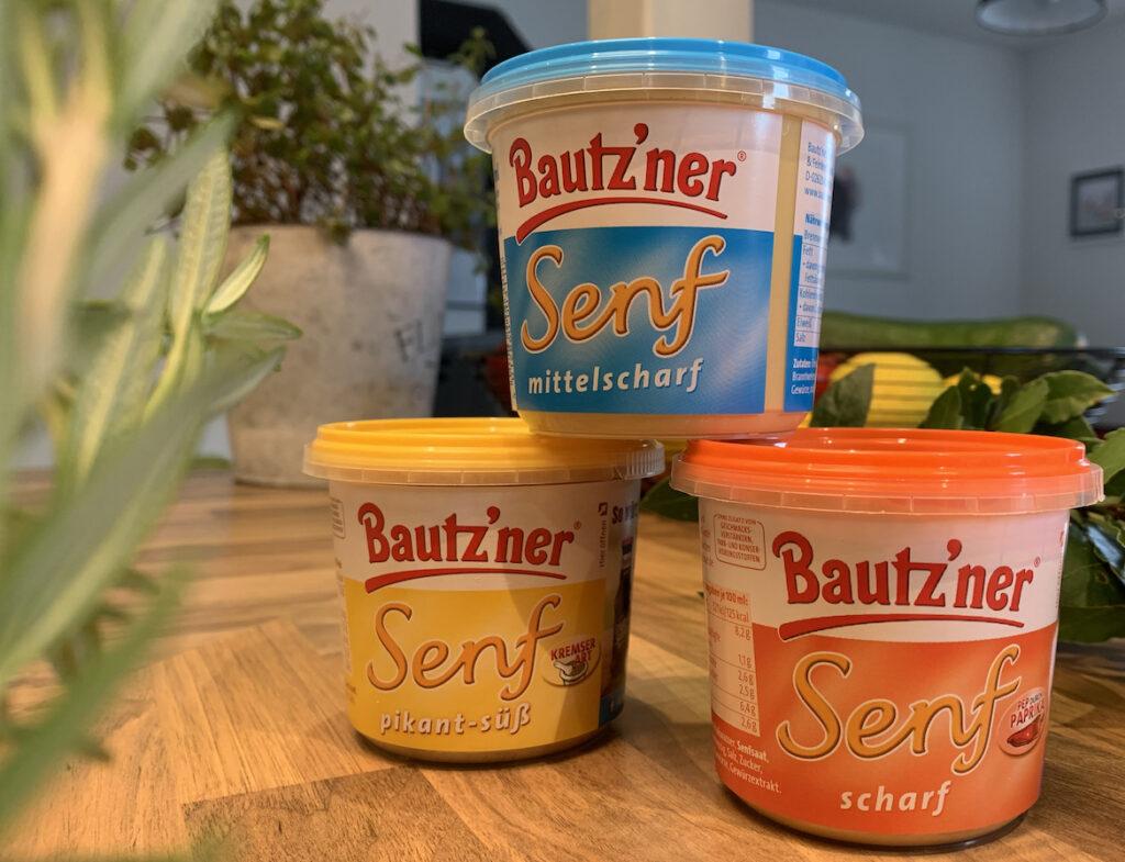 """Bautz'ner Senf 2021: Nach """"Kremser Art"""", """"Mittelscharf"""" und """"Scharf""""."""