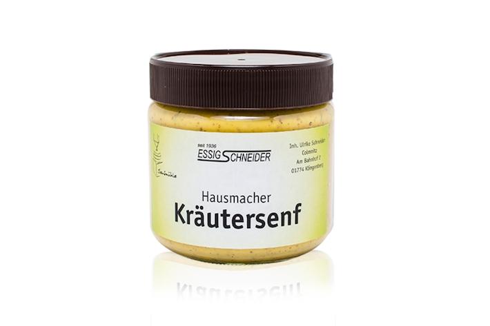 Am Kräutersenf erkennt man den wahren Mostertmeister. Das Produkt von Essig-Schneider ist ein Gaumen-Genuss.
