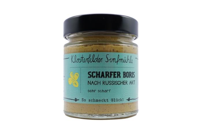 Scharfer Boris aus der Klosterfelder Senfmühle: Ein sehr guter scharfer Senf aus Branndenburg