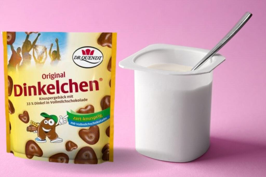 Die Dinkelchen von Dr. Quendt und feiner Joghurt sind die Zutaten des neuen Sachsenmilch-Produkts.